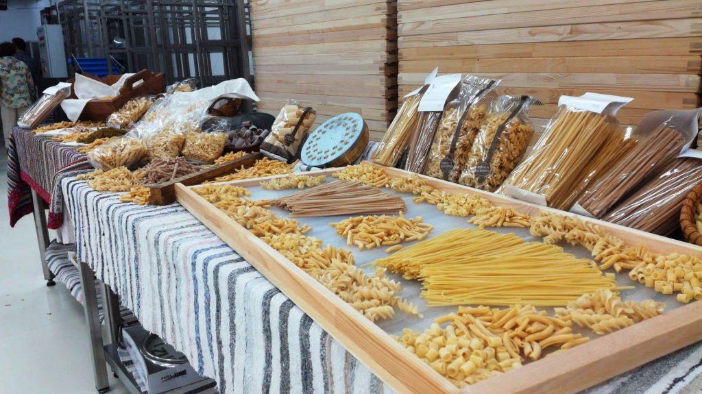 I diversi tipi di pasta dell'azienda di Palazzolo