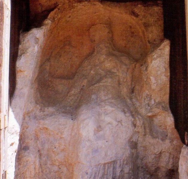 I Santoni: particolare della scultura rupestre