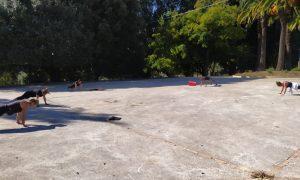 Momento di sport alla villa comunale