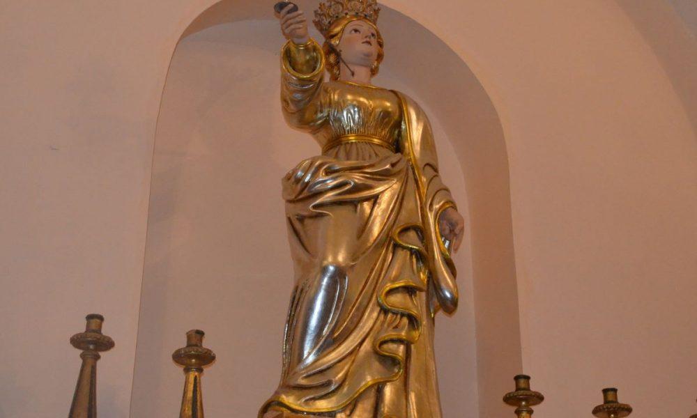 Santa Lucia siracusana: statua di santa Lucia presso la chiesa di sant' Antonio