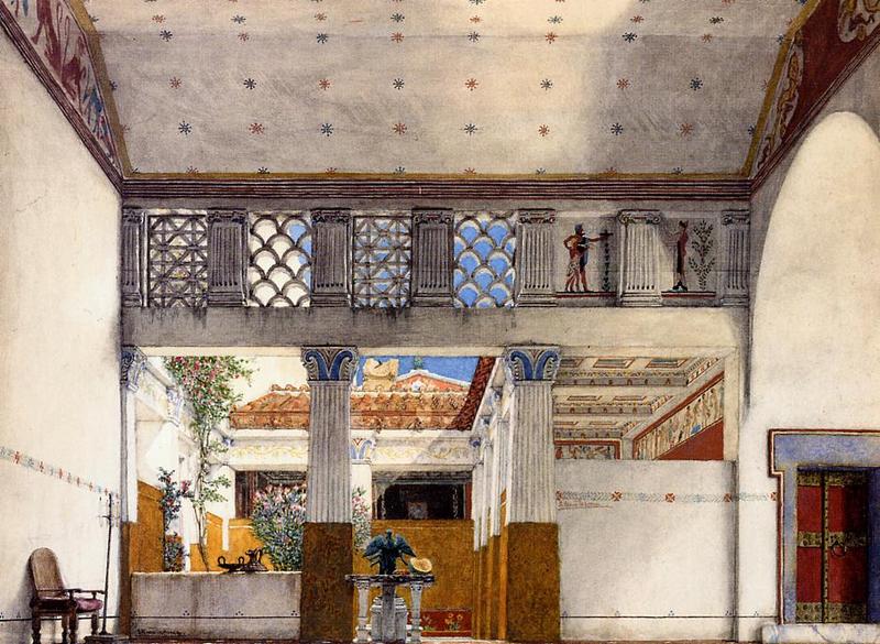 I Reperti: Alma Tadema Coriolanus House da wikipedia