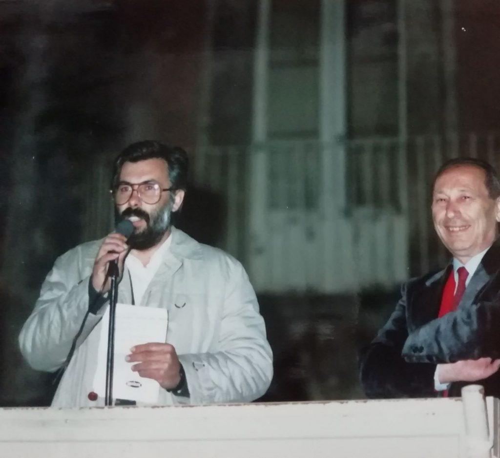 Paolo Greco: votazioni comunali e provinciali 1990 (raccolta Santoro-foto Ugo Santoro