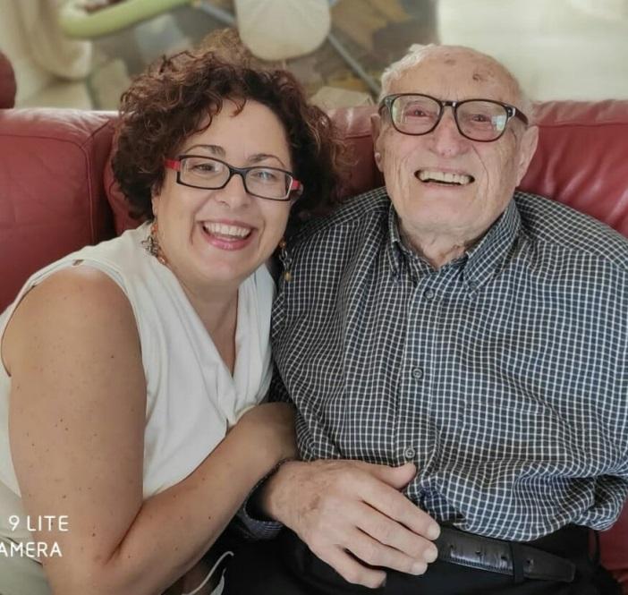 Padre Sebastiano Teodoro e la nipote Rita a settembre 2020