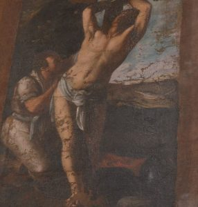 Il sant'Ippolito e il suo carnefice, Tela di Mario Minniti, chiesa Madre