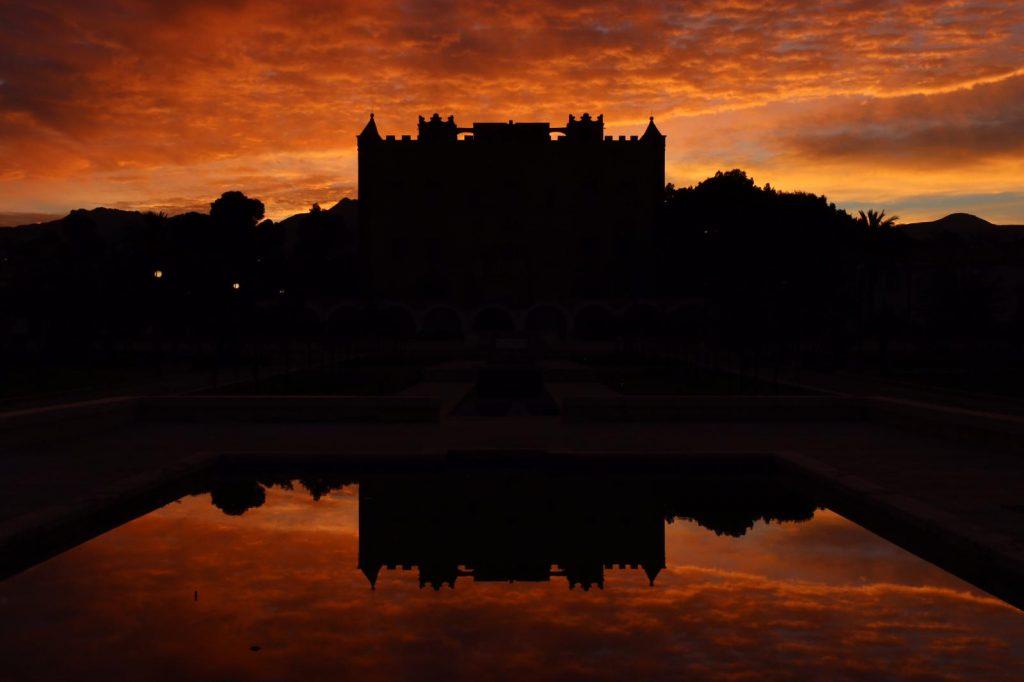 Il Castello della Zisa al tramonto
