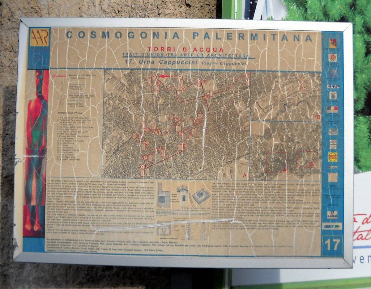 Torri d'acqua a Palermo: mappa