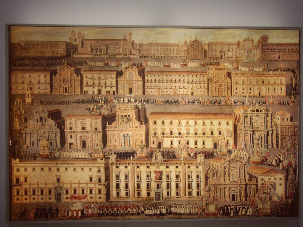 Rosalia patrona: il grande quadro della processione