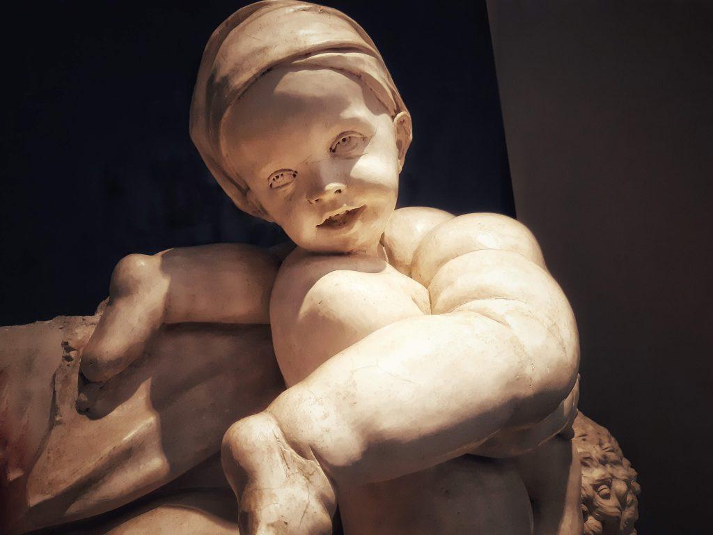 Bianco serpotta nella perfezione umana dei putti bambini