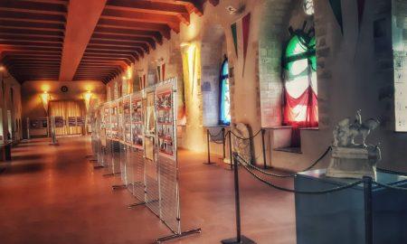 Omaggio ai Caduti: la sala delle Bifore a Palazzo Sclafani, sede della mostra
