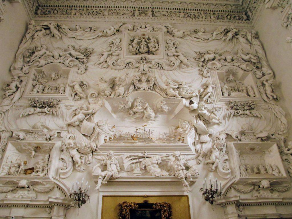 Bianco Serpotta: teatrino con la battaglia di Lepanto all'Oratorio del Rosario di Santa Cita