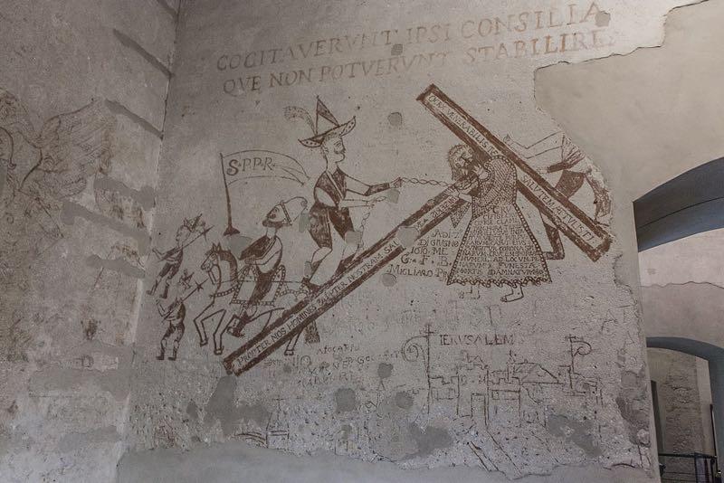 Uno dei disegni delle carceri