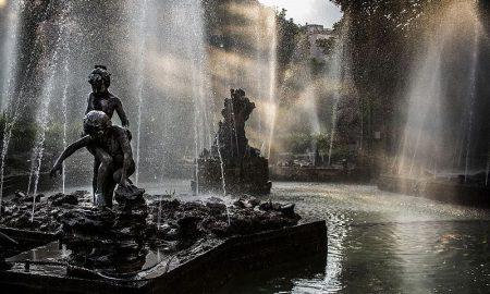 Giardino Inglese, Palermo Sunbean In Fountain Foto Di Cristiano Drago
