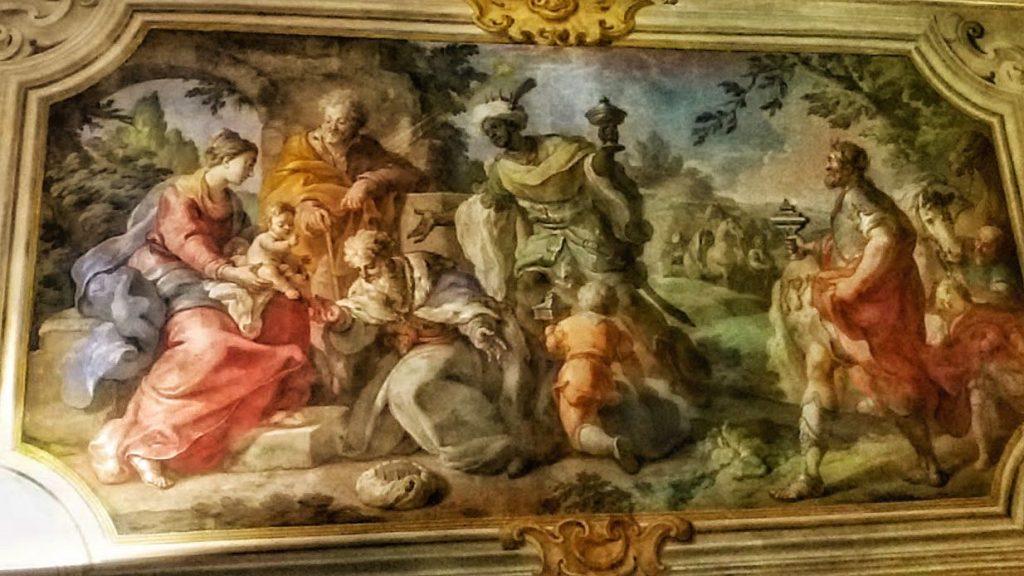 Fiammingo siciliano: adorazione dei Magi, cappella del Palazzo arcivescovile di Palermo
