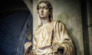Oliva da Palermo: statua della santa nella Cattedrale di Palermo