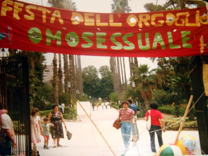 Palermo e il Pride Festanazionalegay 1981 Arcigay Palermo Ingresso di villa Giulia