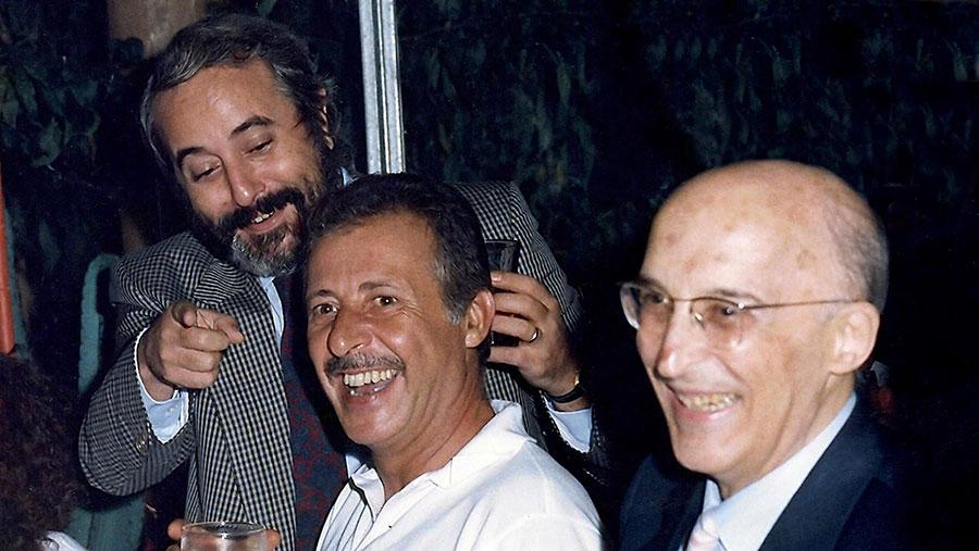 Antonino Caponnetto, Giovanni Falcone e Paolo Borsellino