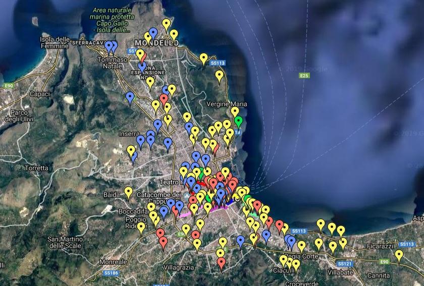 Cartina de I Monumenti Abbandonati
