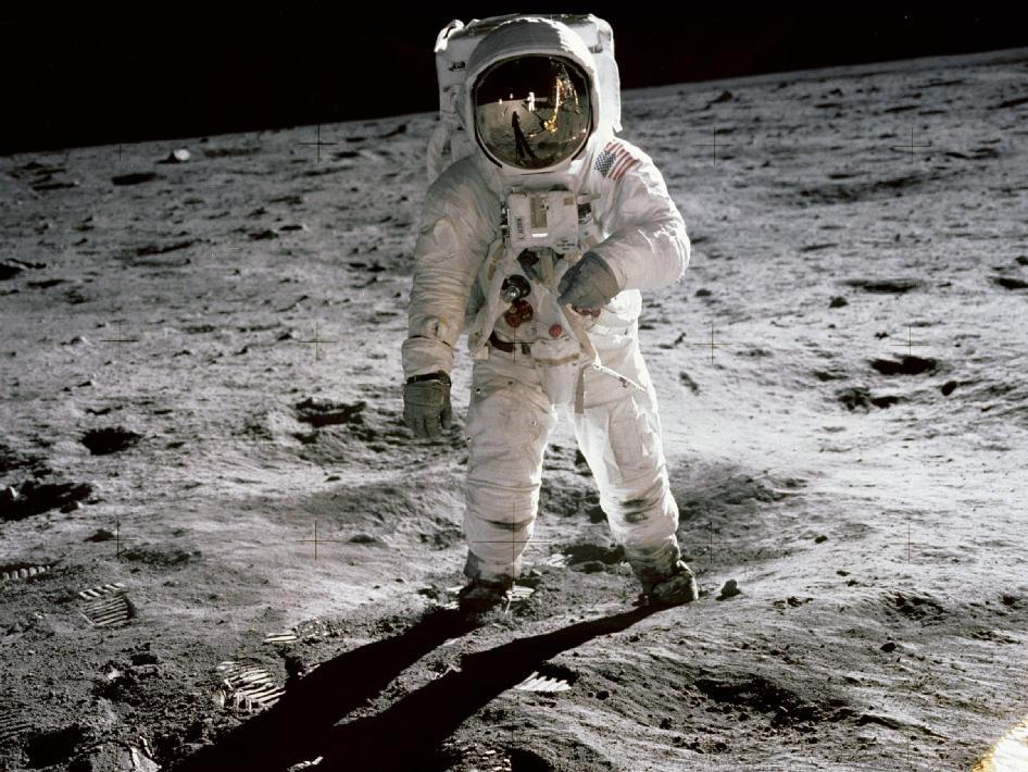 Aldrin Passeggia Sulla Luna