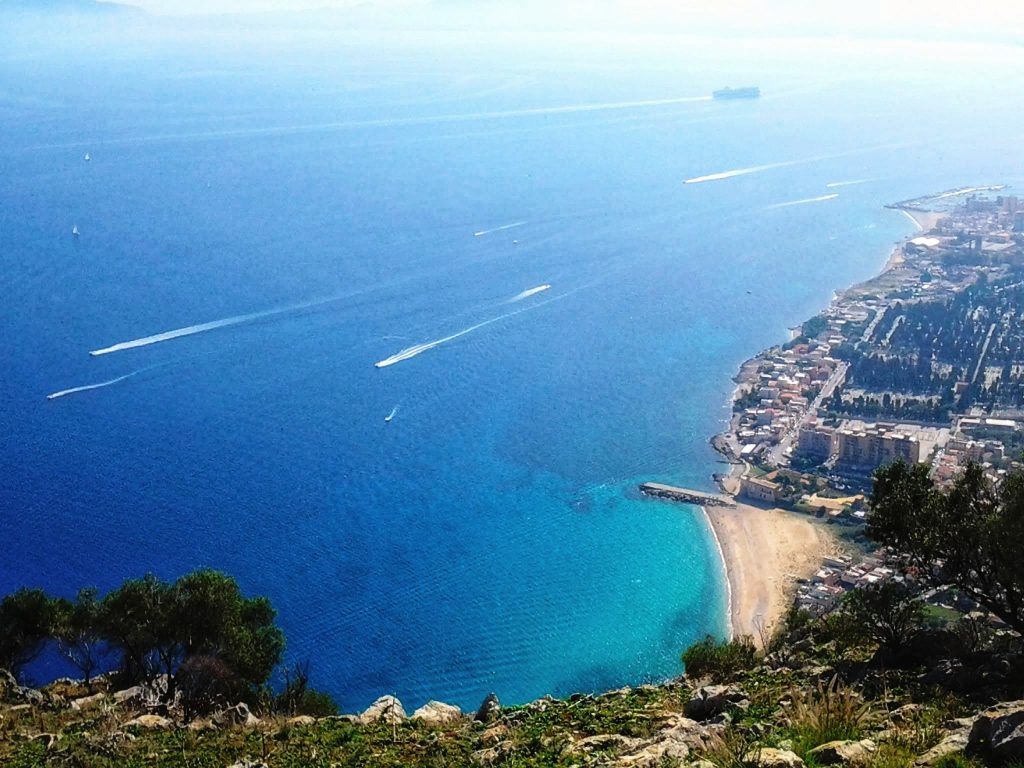 Vista sul Golfo di Palermo da Monte Pellegrino