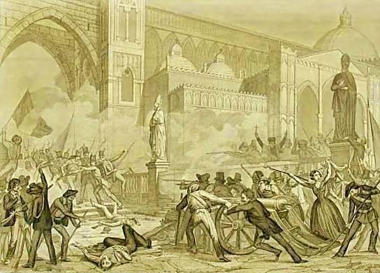 Sanesi La Rivoluzione Di Palermo 12 Gennaio 1848 Ca. 1850