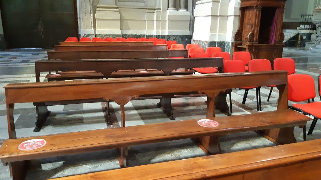 Posti a sedere definiti in Cattedrale a Palermo
