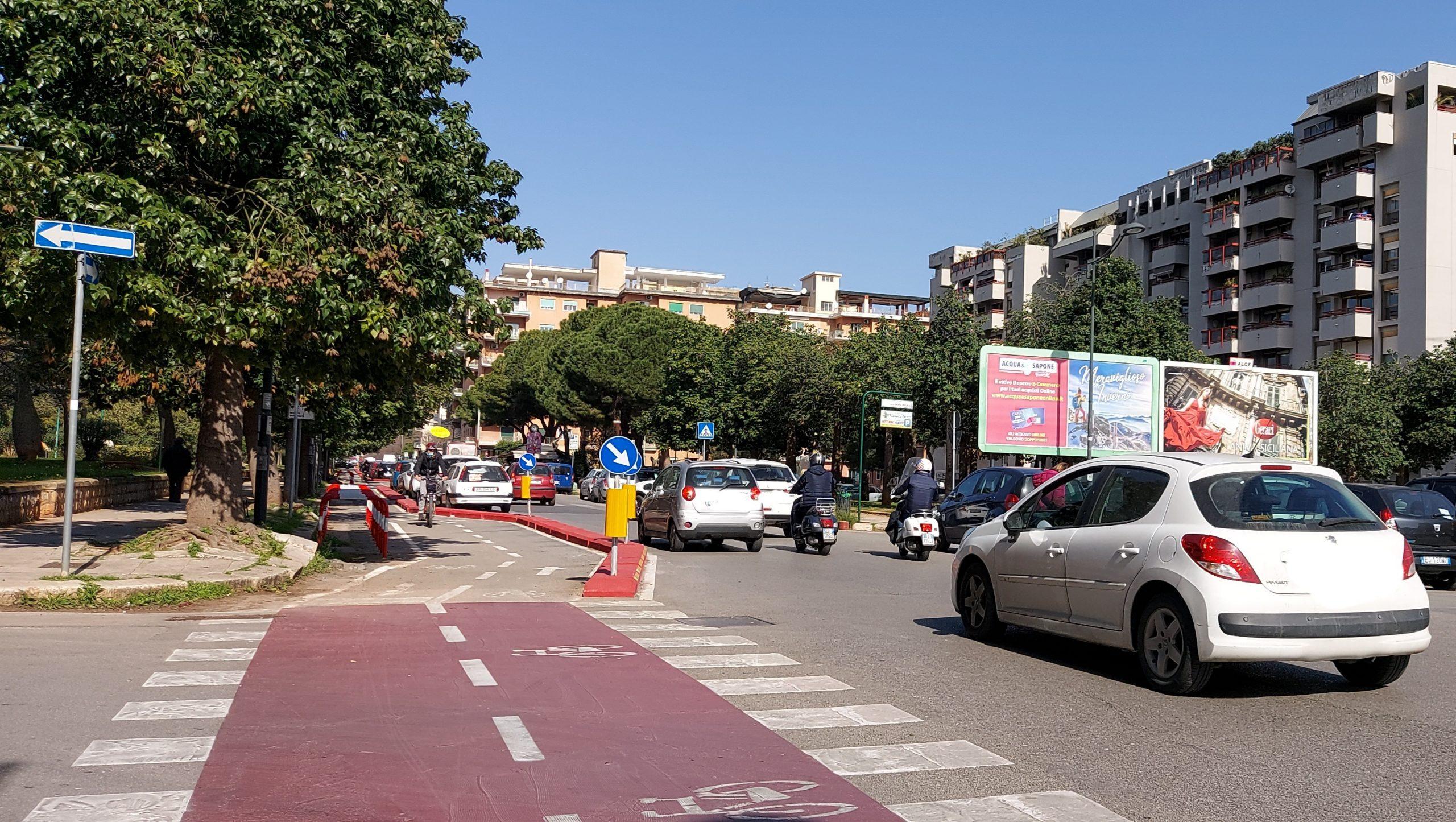 Pista ciclabile a Palermo