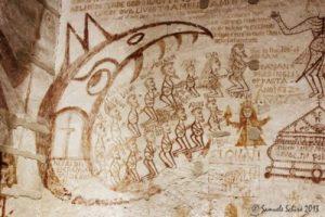 Graffiti nella carceri di Palazzo Chiaramonte Steri