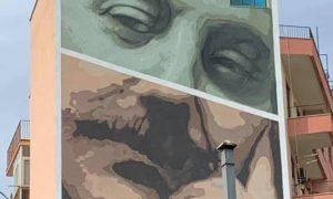 Porta dei giganti, il murale Giovanni Falcone