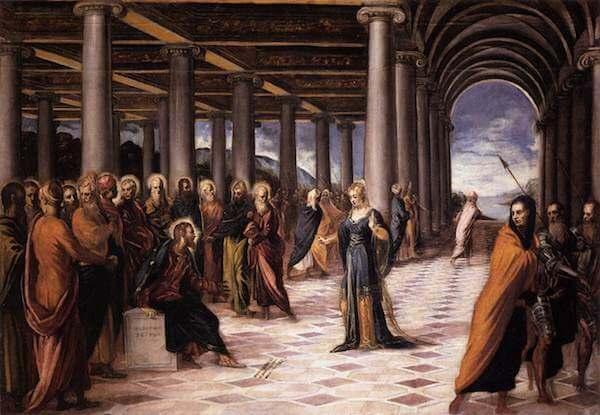 Tintoretto Cristo e la donna adultera