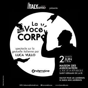 Luca Vullo arriva a Parigi con La voce del corpo