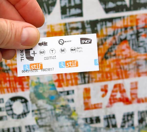 Biglietto metro di Parigi