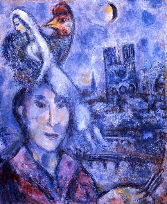 cattedrale notre dame - dipinto di chagall