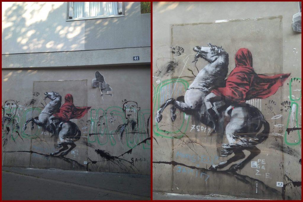 Banksy Napoleone a cavallo