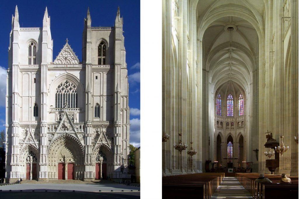 Cattedrale di Nantes - Cattedrale Di Nantes Facciata E Navata Centrale