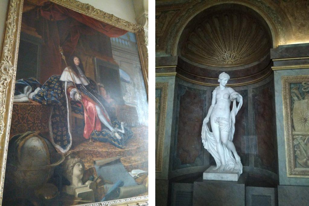 Versailles - Quadro Re Sole E Una Statua Di Donna