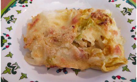 verza gratinata - piatto di verza al gratin