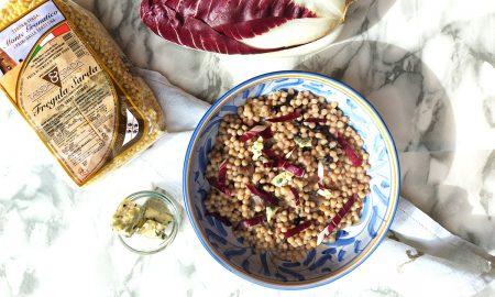 Fregola radicchio e gorgonzola - Copertina Marmo