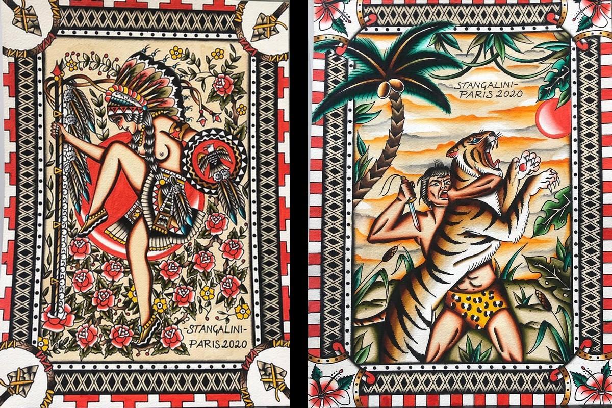 Filippo Maria Stangalini - Tavole tattoo dipinte