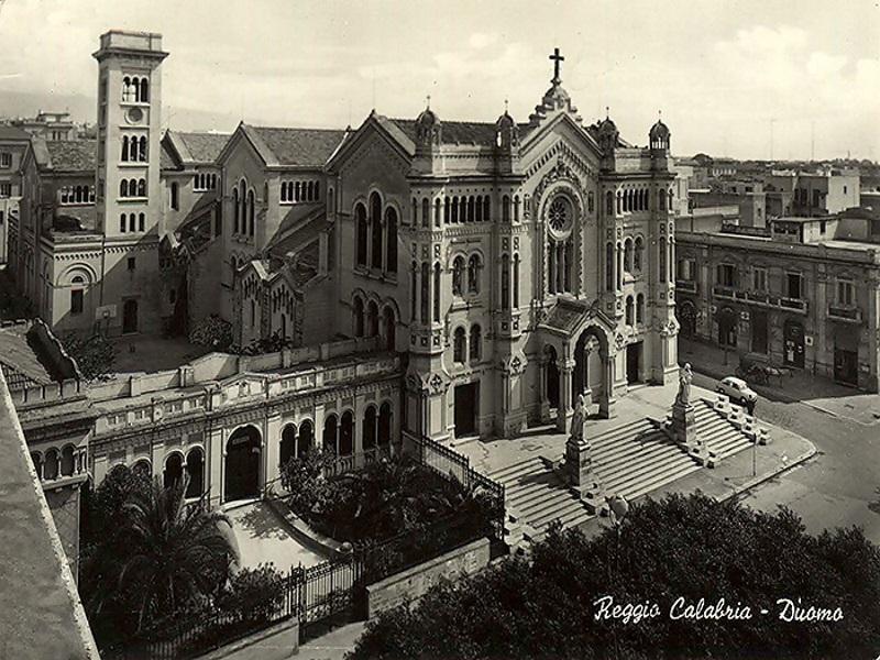 Duomo di Reggio Calabria - Una cartolina dell'epoca