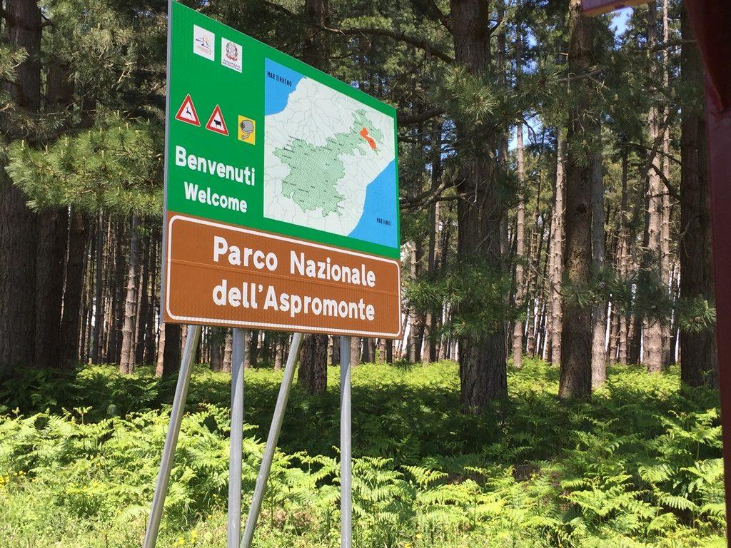 ingresso del parco dell'Aspromonte