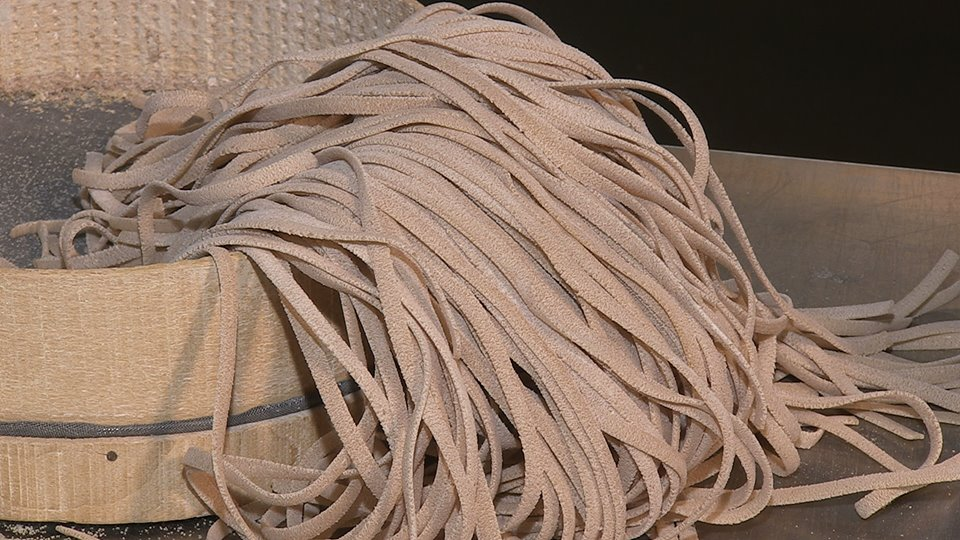 Stroncatura Pasta Casareccia prodotta nella provincia di Reggio Calabria