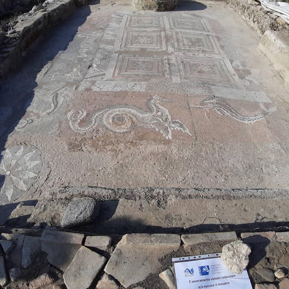 il mosaico dell'antica Kaulon
