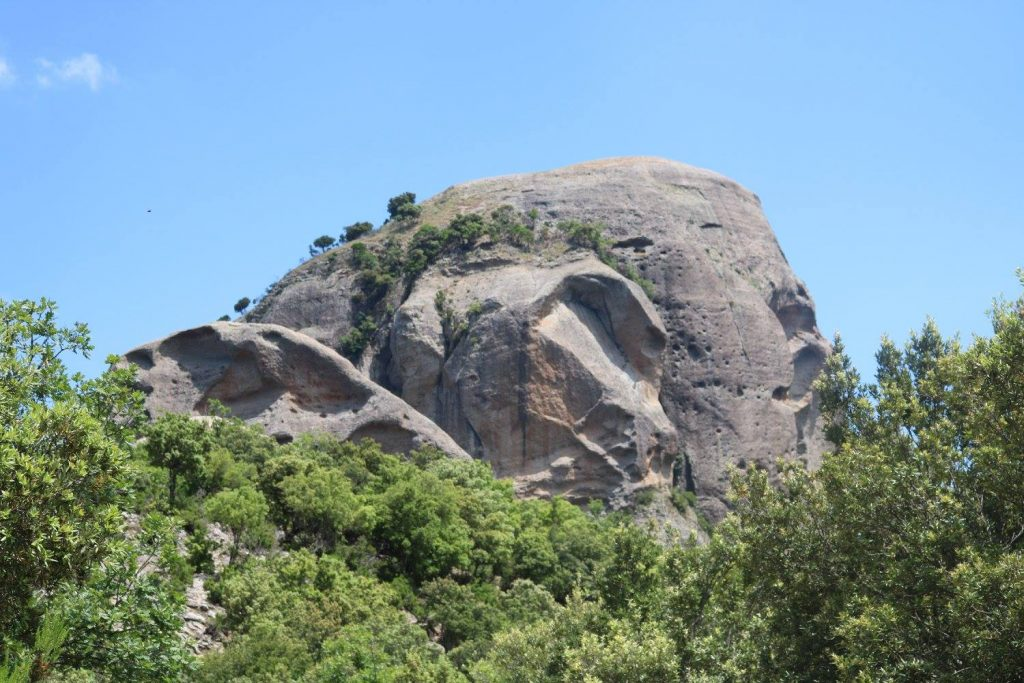 la meta dell'escursione Pietra Cappa