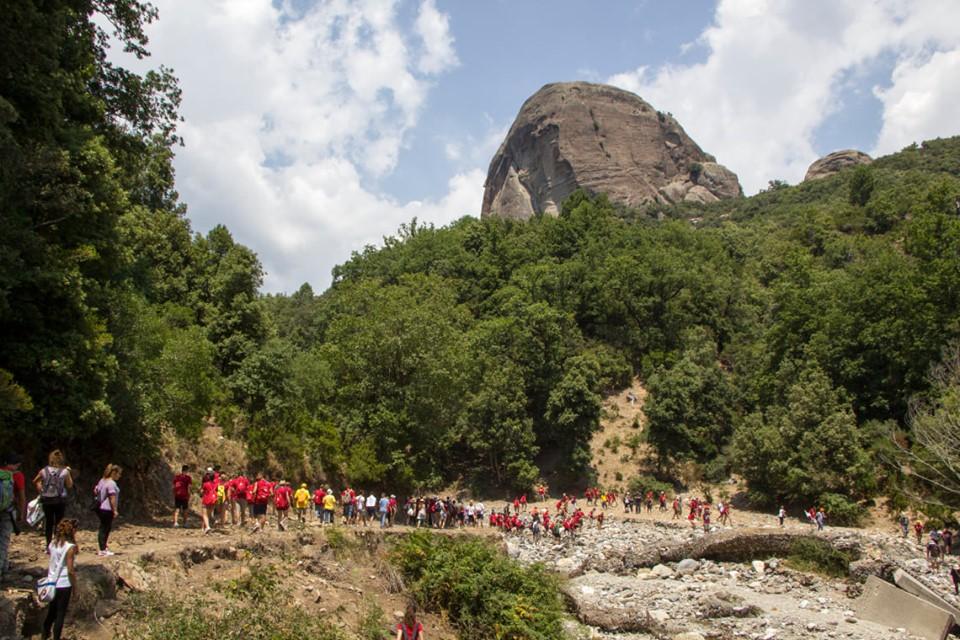 Gruppo Di Escursionisti Lungo I Percorsi Per Pietra Cappa