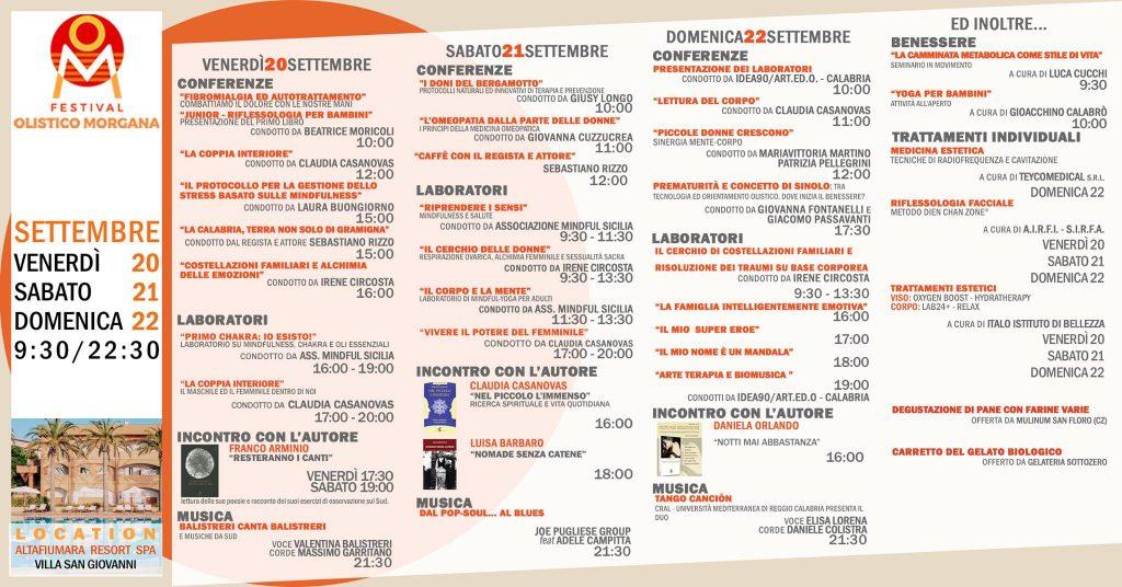 Programma Del Festival Olistico Morgana