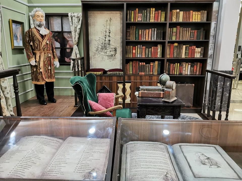 lo Studio di Giulio Verne ricreato alla mostra di reggio calabria