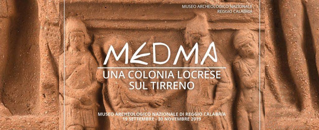 Medma e il manifesto della mostra in corso al Marc di Reggio Calabria