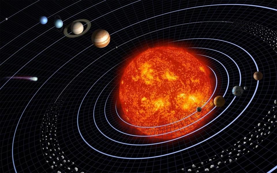 Sotto Le Stelle e i Pianeti del sistema solare