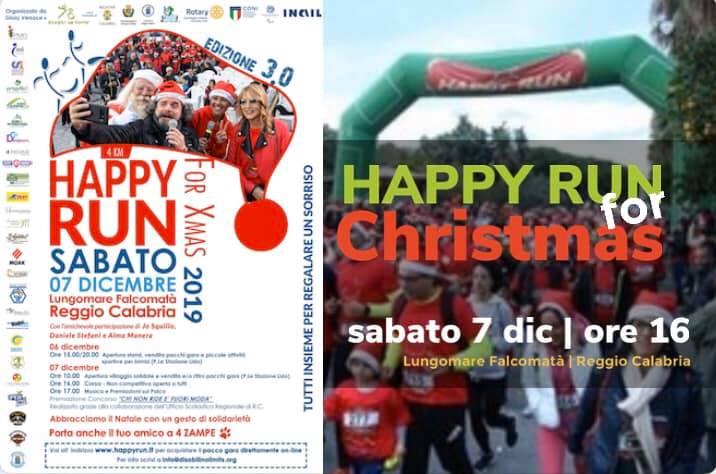 Sport e solidarietà manifesto della iniziativa happy run for christmas