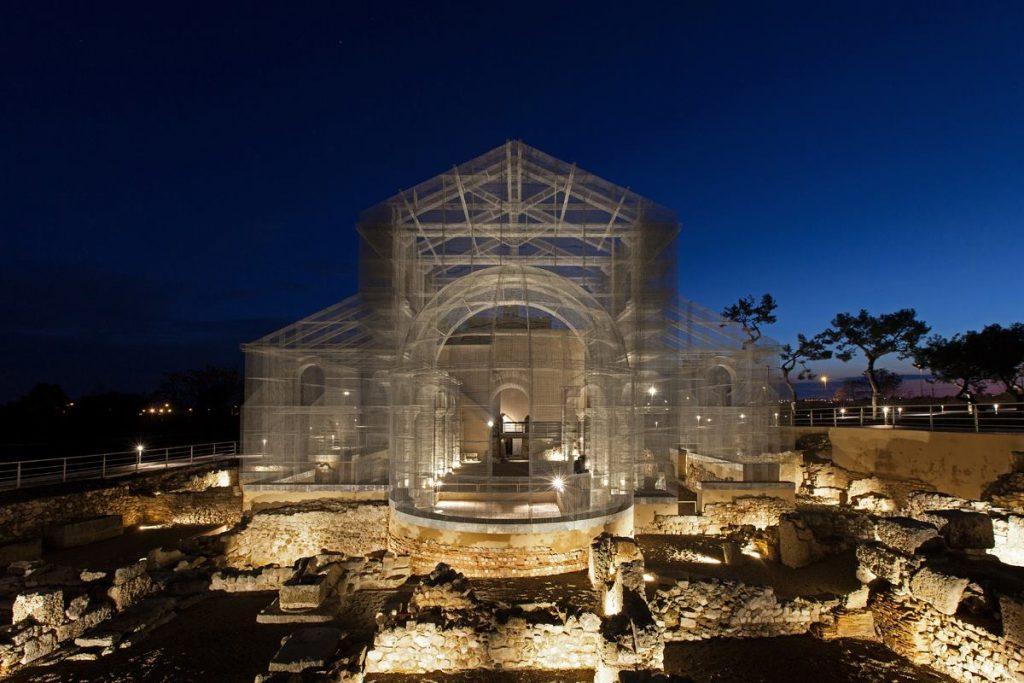 Basilica Di Santa Maria Di Siponto Illuminata
